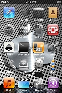 metallic SummerBoard Theme for the iPhone or iPod Touch