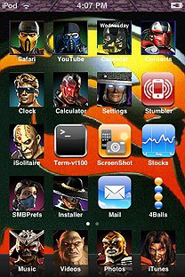 mortal kombat SummerBoard Theme for the iPhone or iPod Touch