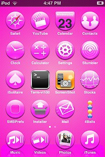 pinkameter SummerBoard Theme for the iPhone or iPod Touch