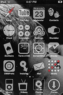 plain jainSummerBoard Theme for the iPhone or iPod Touch