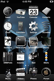 punisher SummerBoard Theme for the iPhone or iPod Touch