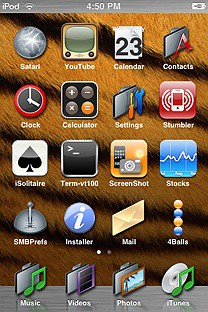 quicksilver SummerBoard Theme for the iPhone or iPod Touch