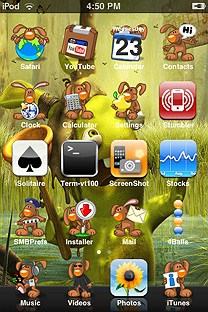 rabbids SummerBoard Theme for the iPhone or iPod Touch
