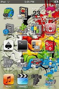 rainbow brains SummerBoard Theme for the iPhone or iPod Touch