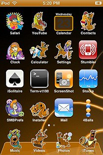 scooby doo SummerBoard Theme for the iPhone or iPod Touch