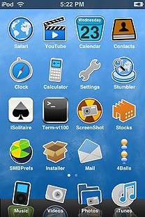 simple sky SummerBoard Theme for the iPhone or iPod Touch