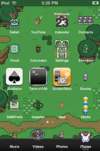 snes zelda SummerBoard Theme for the iPhone or iPod Touch