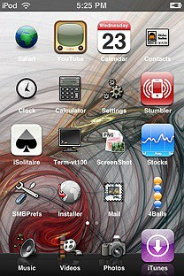 split theme SummerBoard Theme for the iPhone or iPod Touch