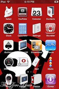the zero year SummerBoard Theme for the iPhone or iPod Touch