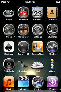 time machine SummerBoard Theme for the iPhone or iPod Touch