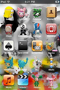 tokidoki SummerBoard Theme for the iPhone or iPod Touch