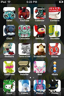 toyjoy SummerBoard Theme for the iPhone or iPod Touch