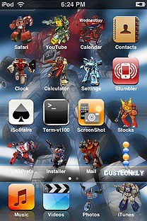transformerc SummerBoard Theme for the iPhone or iPod Touch