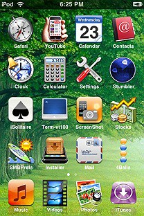 trees SummerBoard Theme for the iPhone or iPod Touch