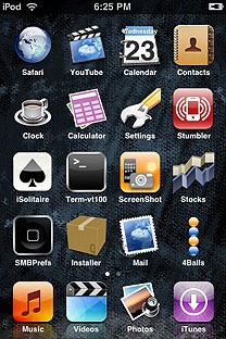 tubs SummerBoard Theme for the iPhone or iPod Touch