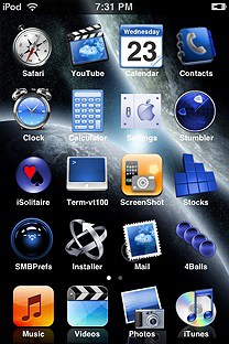 unlocker SummerBoard Theme for the iPhone or iPod Touch