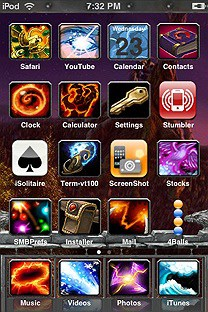 warcraft SummerBoard Theme for the iPhone or iPod Touch