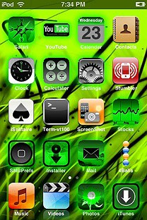xadackas green sensation SummerBoard Theme for the iPhone or iPod Touch
