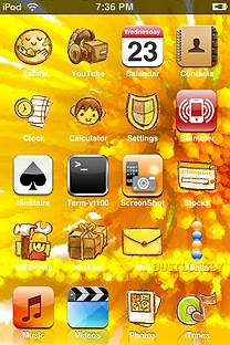 yellowq SummerBoard Theme for the iPhone or iPod Touch