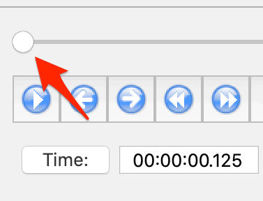 a timeline slider button