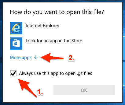 How to Open tar gz Files in Windows 10