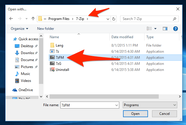 How to open files in windows 10 simple help for Window zip file