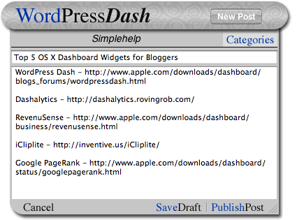how to download dashboard widgets