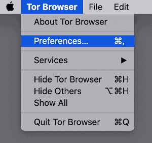 an arrow pointing to a Preferences link