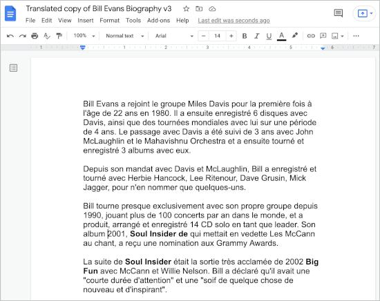 a translated document