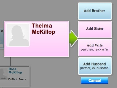 adding relatives in hellotree