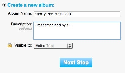 create photo albums in hellotree