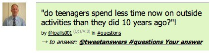 tweet answers