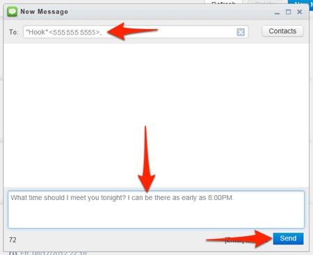 how to send text message via internet