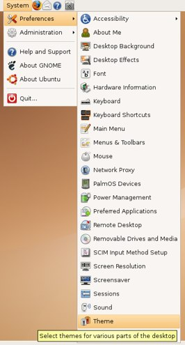 changing the ubuntu theme
