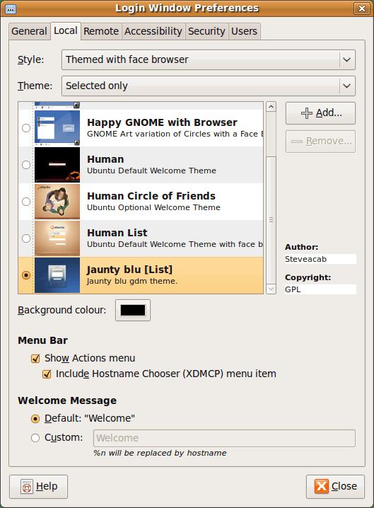 How to change the Ubuntu login screen