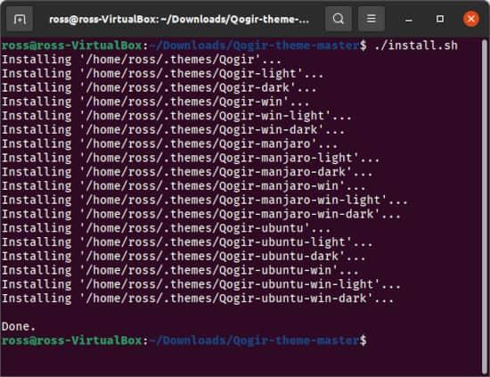 an Ubuntu Terminal with an install.sh command