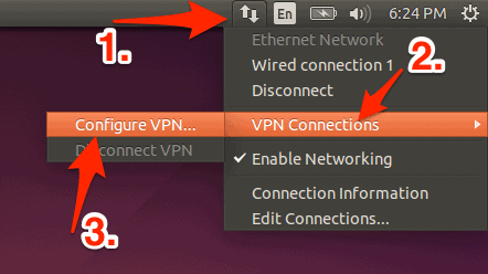 Networking Menu Bar icon in Ubuntu