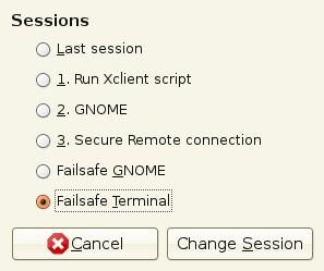 change the ubuntu session
