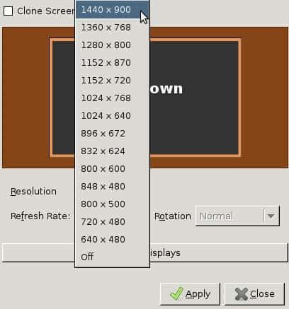changing ubuntu screen resolution