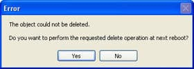 delete the file after next reboot