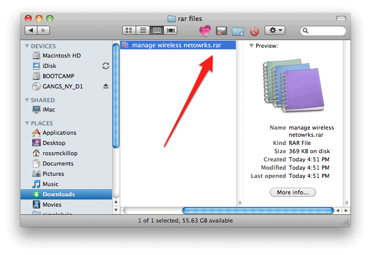 How to open rar files in OS X