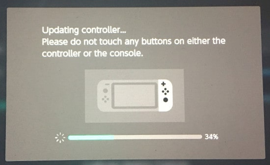Updating the Nintendo Switch Controllers message