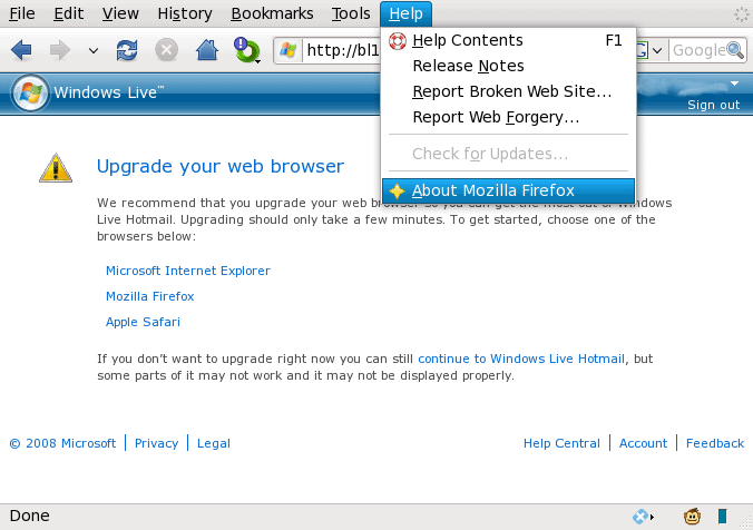 Using the Firefox Addon – User Agent Switcher