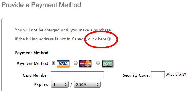 how to find credit card billing zip code