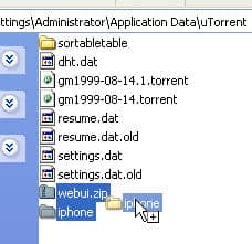 utorrent web ui for the iphone and ipod touch