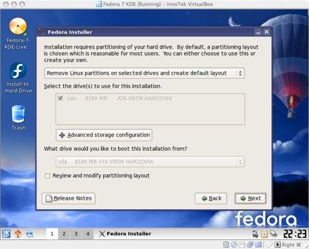 installing fedora 7 in virtualbox for os x