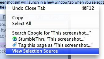 source view firefox tab