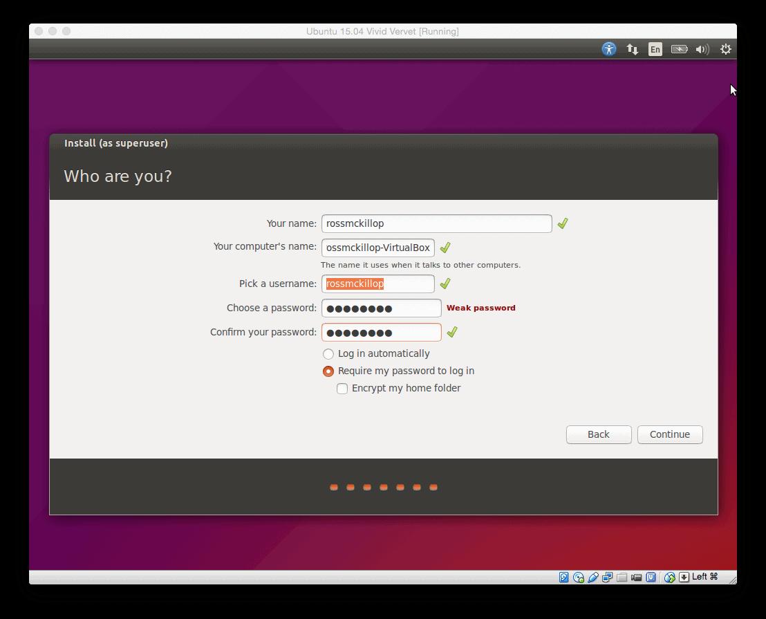 ubuntu machine mac