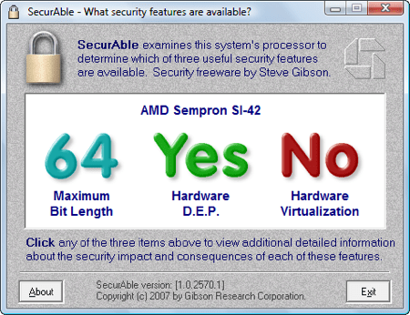 securable displaying no for virtualization