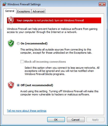 How do i turn off mcafee firewall